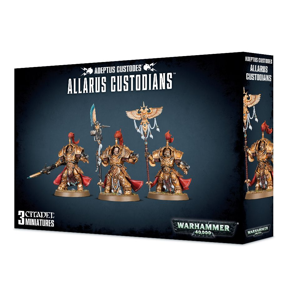 Games Workshop Allarus Custodians / Shield Captain/  Vexilus Praetor In Allarus Terminator  Armour