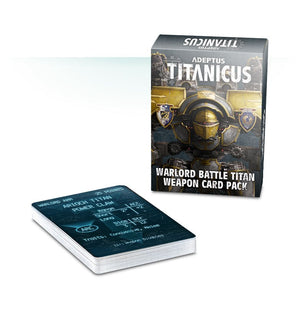Games Workshop Adeptus Titanicus Warlord Battle Titan Weapon Card Pack