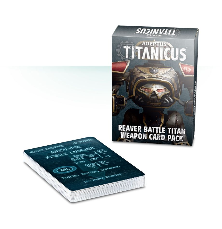 Games Workshop Adeptus Titanicus Reaver Battle Titan Weapon Card Pack