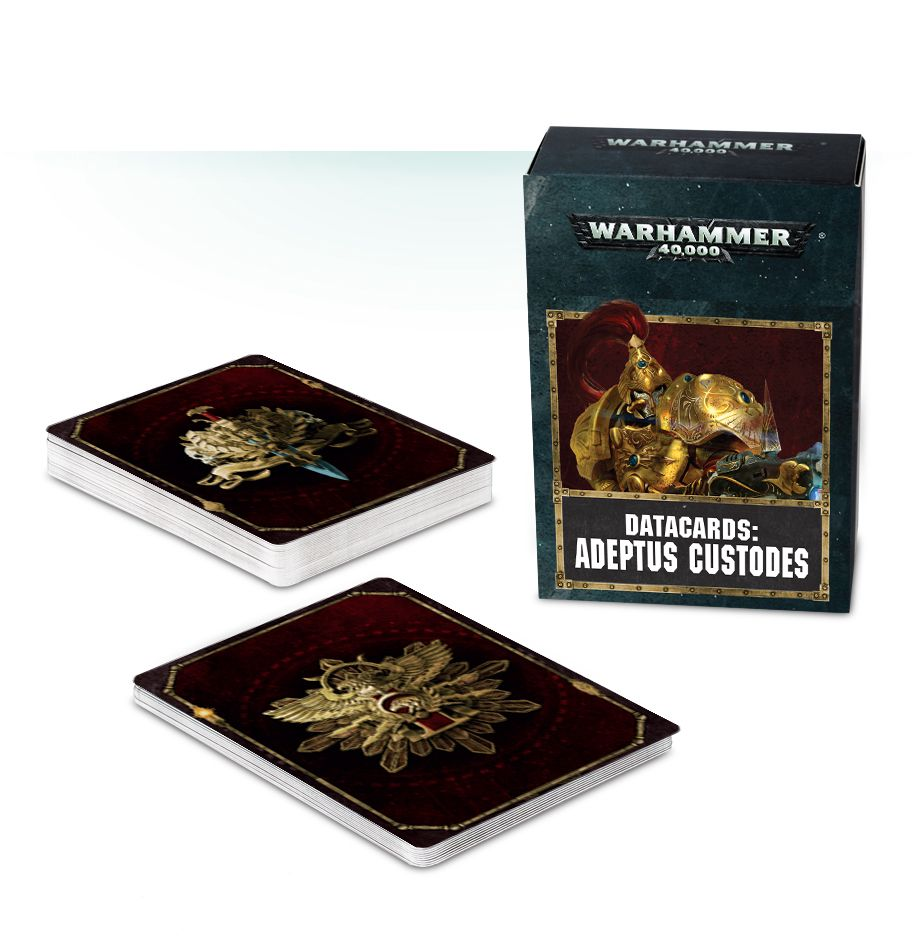 Games Workshop  Datacards Adeptus Custodes