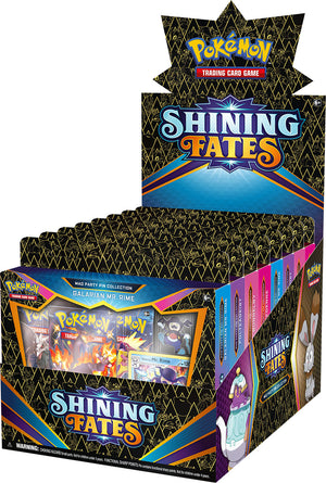Pokémon TCG: Shining Fates Mad Party Pin Collection FULL BOX