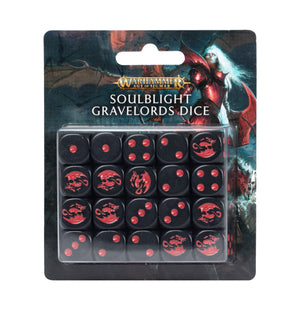 Games Workshop Soulblight Gravelords Dice Set ( 1 per person )