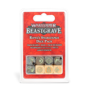 Games Workshop Warhammer Underworlds: Beastgrave – Rippa's Snarlfangs Dice Pack