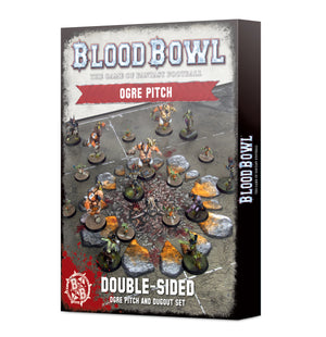 Games Workshop Blood Bowl Ogre Team Pitch & Dugouts