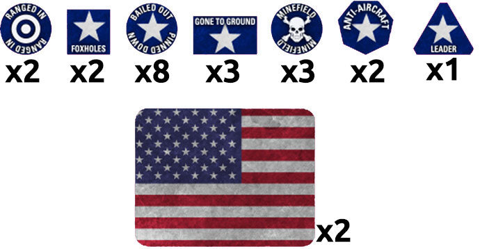 WW3 American Token Set - Team Yankee - TTK14