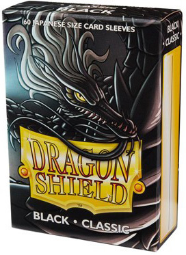 Dragon Shield Small Size Classic Black Sleeves (60ct)