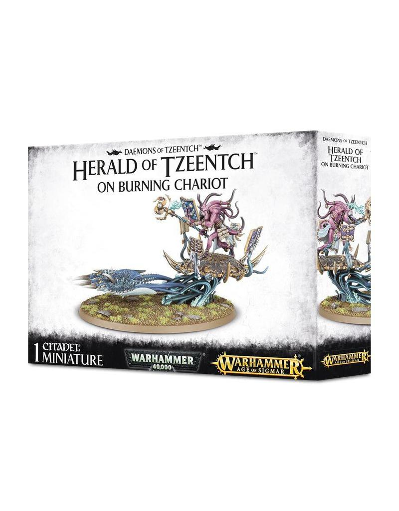 Games Workshop Herald Of Tzeentch On Burning Chariot
