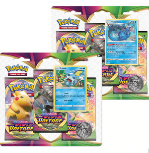 Pokemon - Sword & Shield - Vivid Voltage - 3 Pack Blister - Sobble & Vaporeon