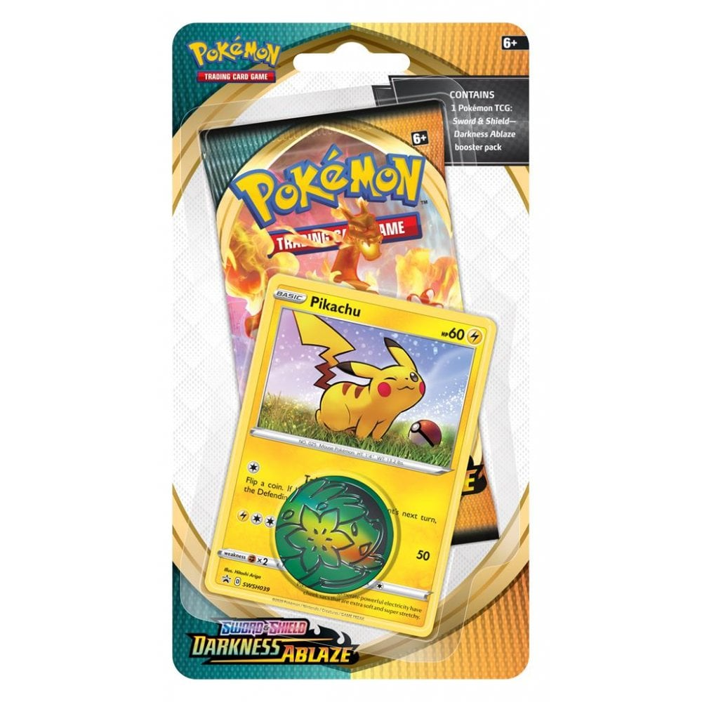 POKEMON Checklane Blister Pack (1 Pack with holo) : Pikachu - Sword and Shield Darkness Ablaze
