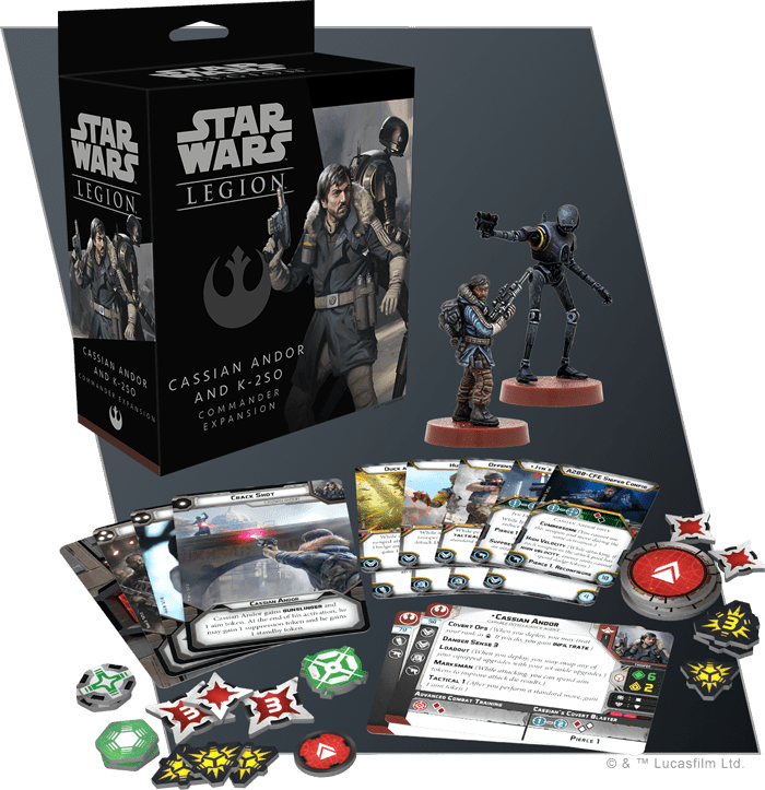 Star Wars Legion Star Wars Legion: Cassian Andor and K-2SO Commander