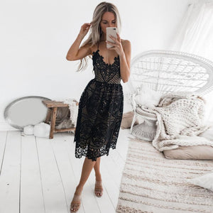 Backless Lace Dresses
