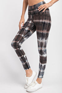 Butter Soft Leggings- Black Tie Dye