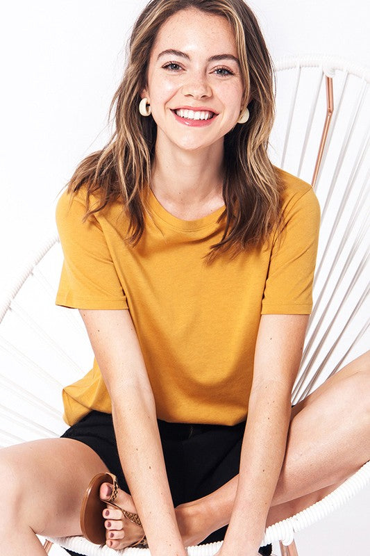 Keep Cool Basic Tee Shirt- Mustard
