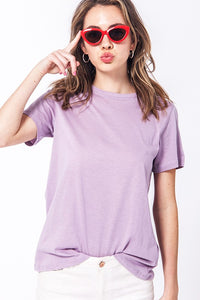 Keep Cool Basic Tee Shirt- Lilac