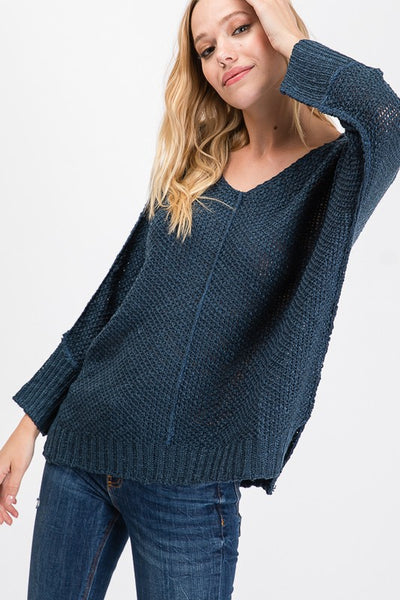 The Frenzy Sweater- Teal