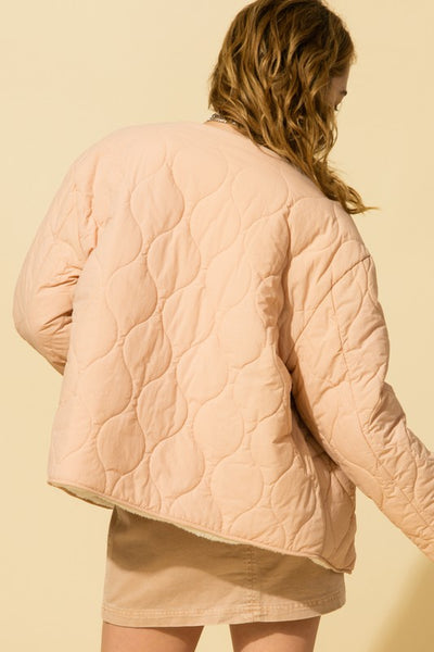 Button Up Quilted Reversible Jacket