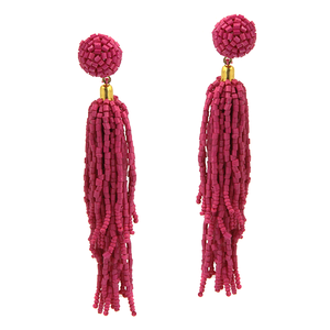 Seed Bead Earrings- Pink