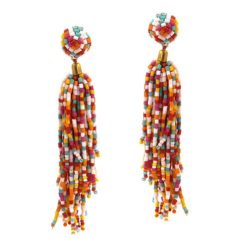 Seed Bead Earrings- Multi