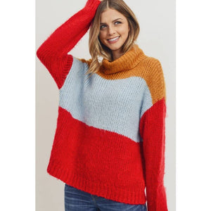 Crisp Air Color-Block Sweater