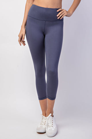 Butter Soft Crop Leggings- Navy Denim