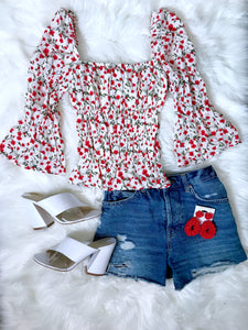 Poppy Girl Square Neck Top