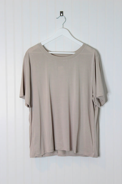Jane Basic Tee Shirt- Ivory
