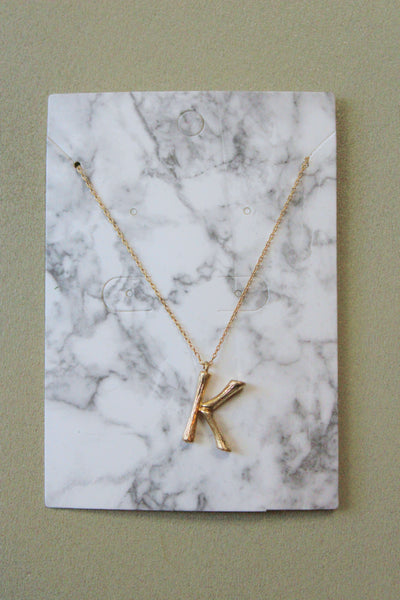 Chloe Letter Necklace- K