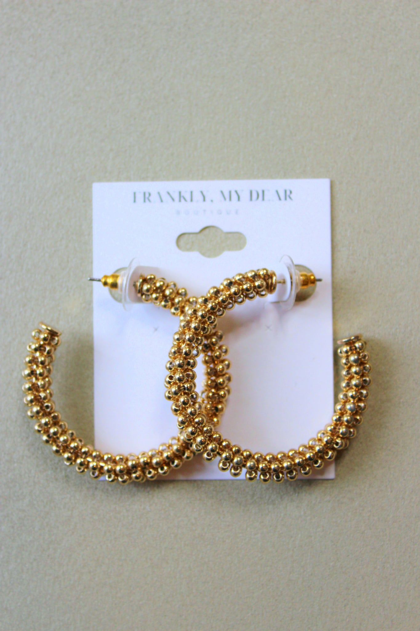 To the Bead Hoop Earrings- Gold