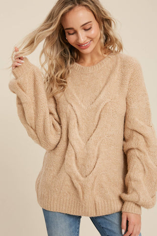 With a Twist Knit Sweater