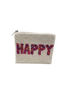 Happy Beaded Coin Purse