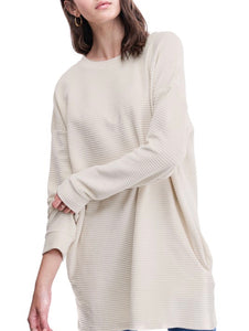 Rolled Oat Tunic Sweatshirt