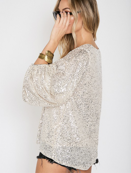 Shining Star Sequin Top