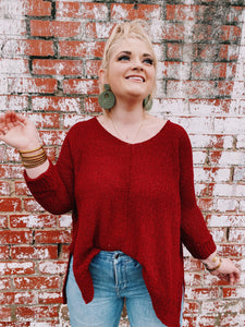 Frenzy Sweater- Red