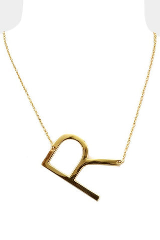 Letter Necklace- R