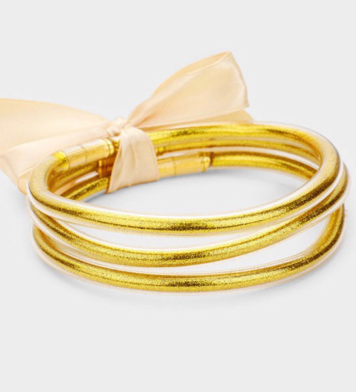 Flexible Gold Bangles- Set of 3