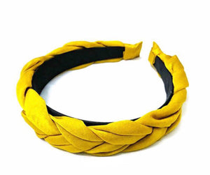 Braided Headband- Mustard