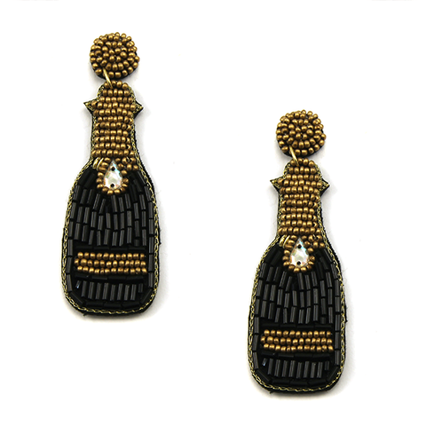 Bring the Bubbles Earrings- Black