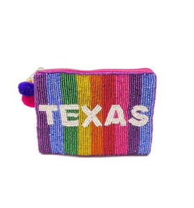 TEXAS Beaded Coin Purse