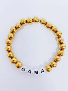 Message Bead Bracelet- Mama
