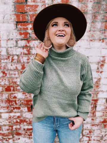 Evergreen Turtleneck Sweater