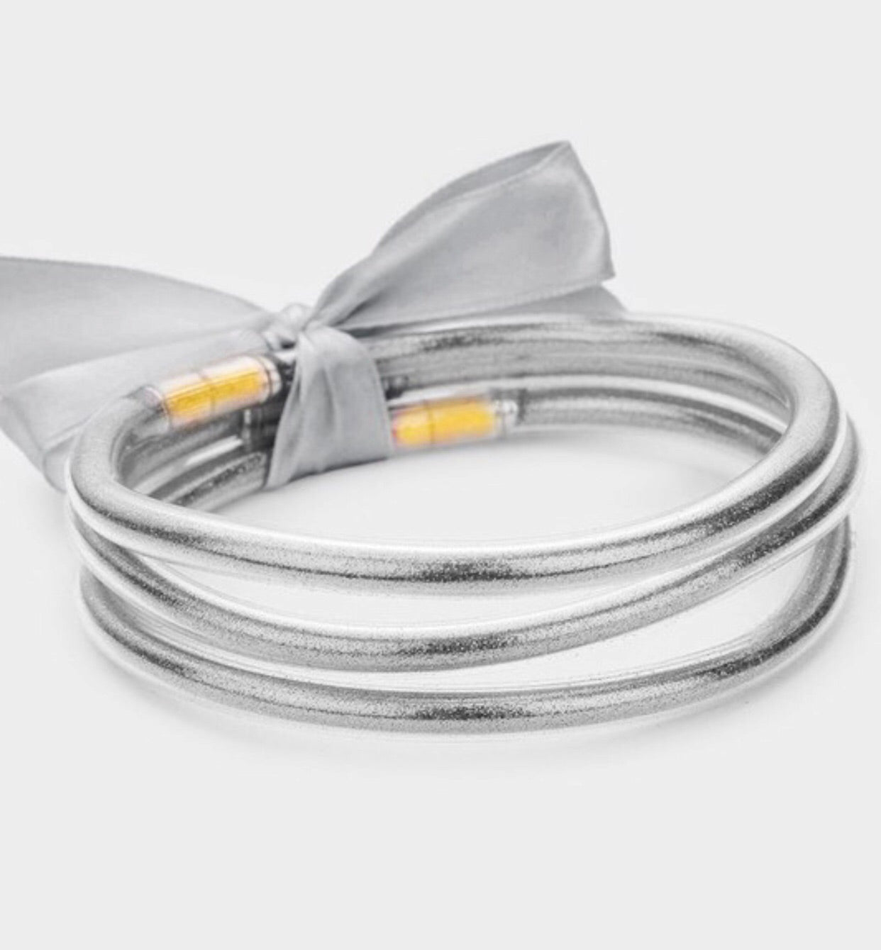 Flexible Silver Bangles- Set of 3