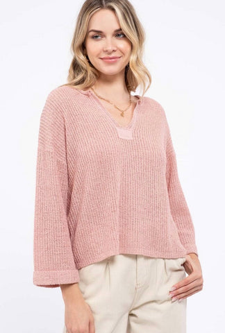 Pretty in Pink Knit Top