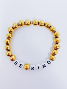 Message Bead Bracelet- Be Kind