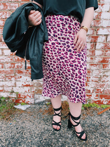 Lady Leopard Midi Skirt