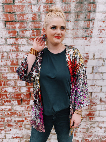 Dazzle On Sequin Jacket