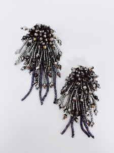 Sparkler Earrings- Black