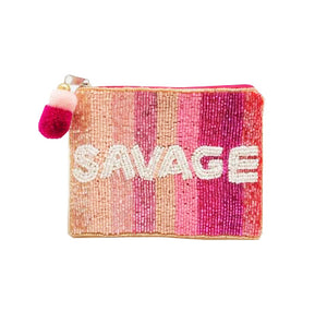 Savage Beaded Coin Purse