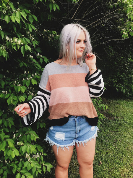 Daiquiri Striped Sweater