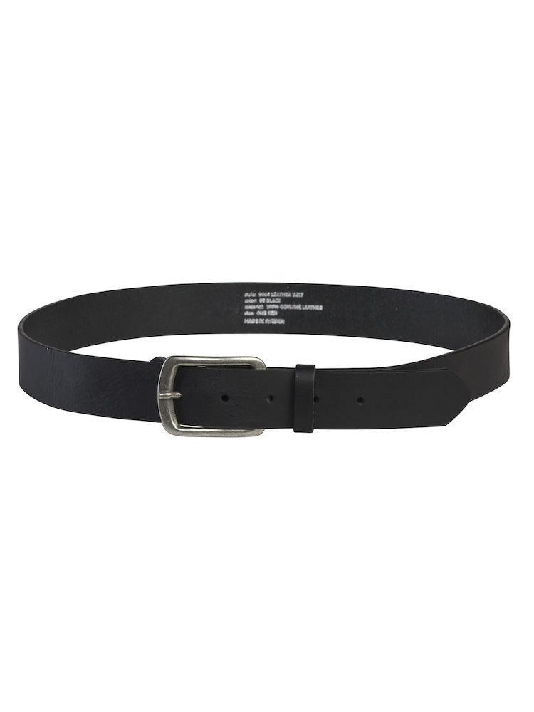 649004 Projob Workwear Leather Belt In Black