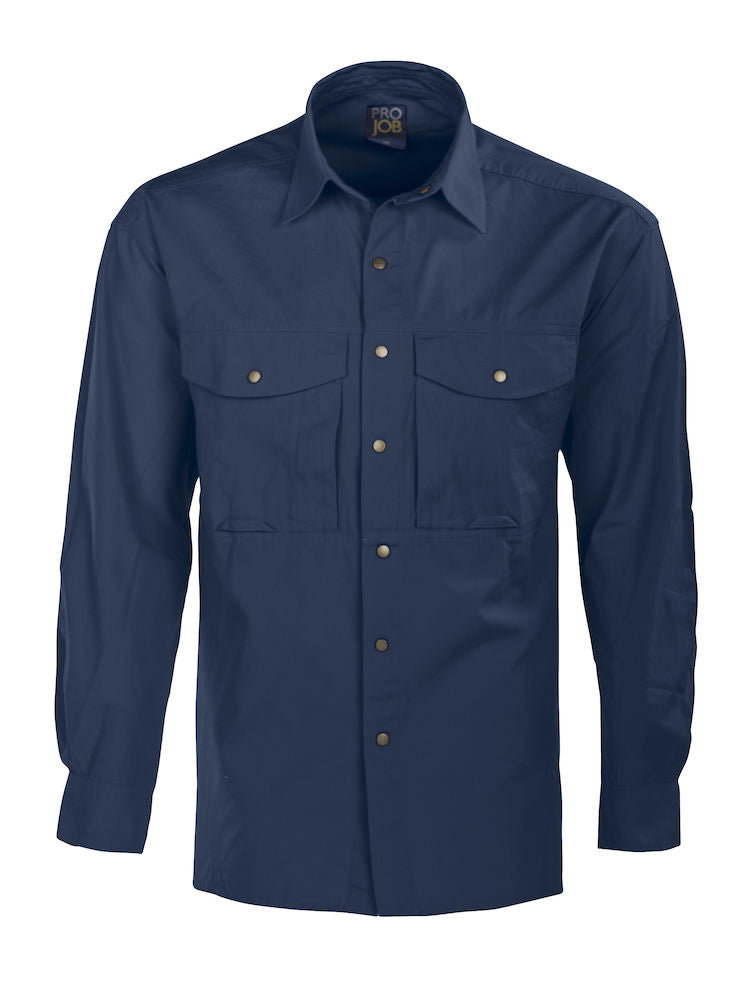 645210 Projob Long Sleeved Mens Formal Shirt